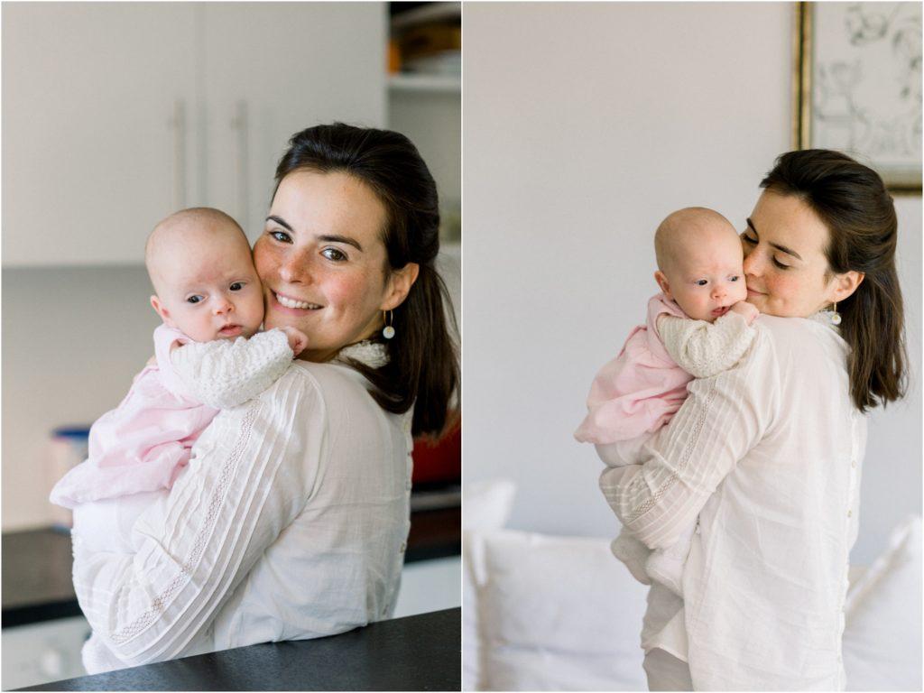 seance photo naissance bébé avec maman à domicile