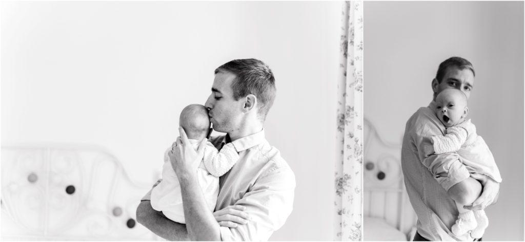 seance photo naissance bébé avec papa