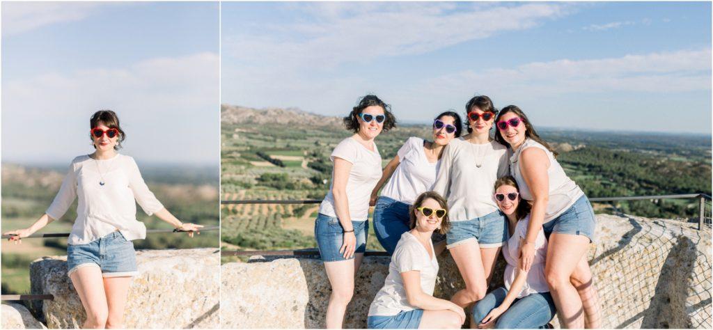Seance photo EVJF aux baux de Provence