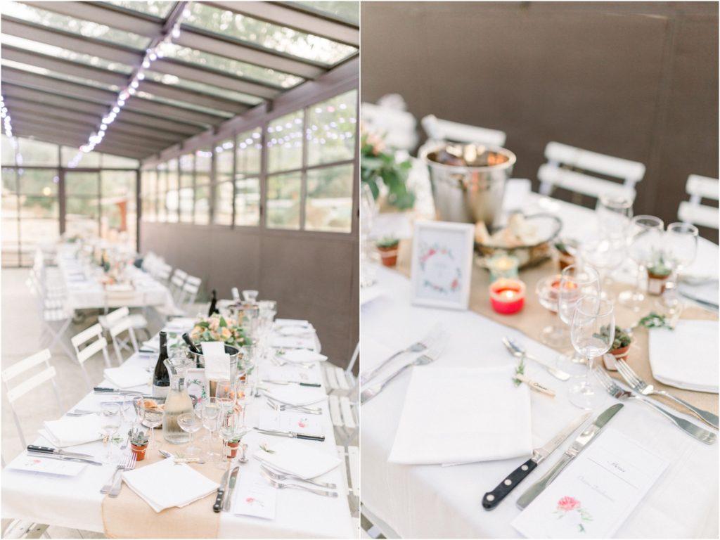 Photo mariage Forcalquier salle lieu de reception décoration table