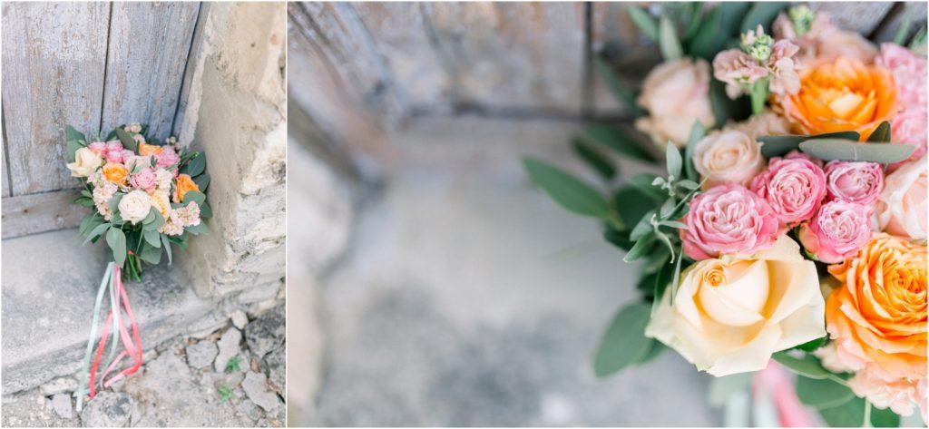 photo mariage Forcalquier bouquet mariée