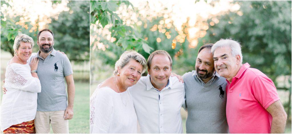 photo de famille à Aix en Provence au coucher du soleil