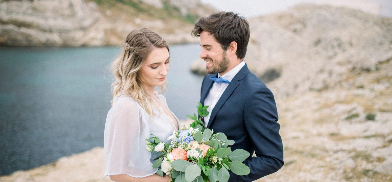 Seance photo couple mariage Marseille les Goudes