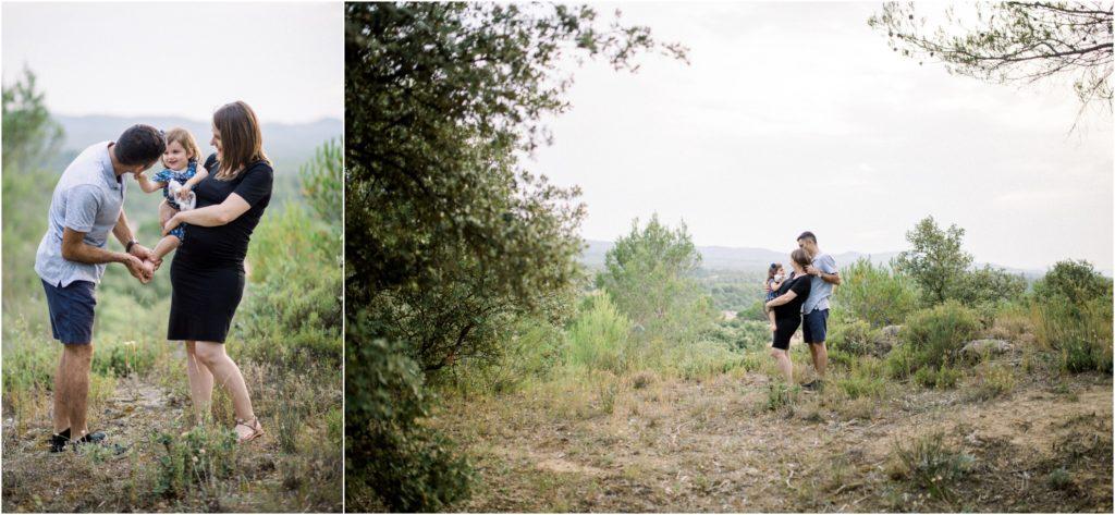 Seance famille et grossesse entre Aix en Provence et Pertuis