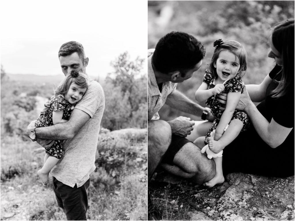 Seance famille sur la colline de Jouques