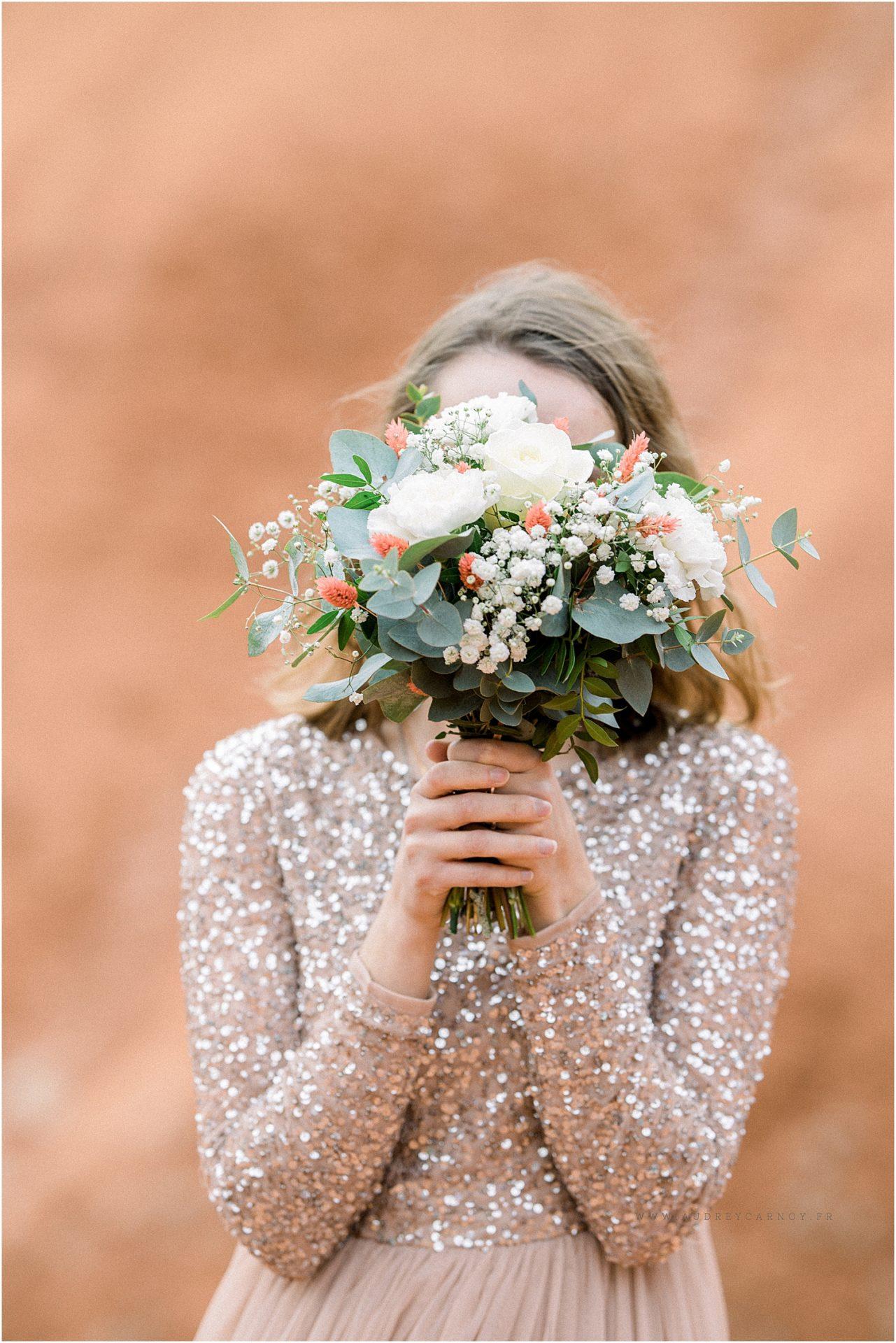 photo d'un bouquet de mariée sur aix en provence
