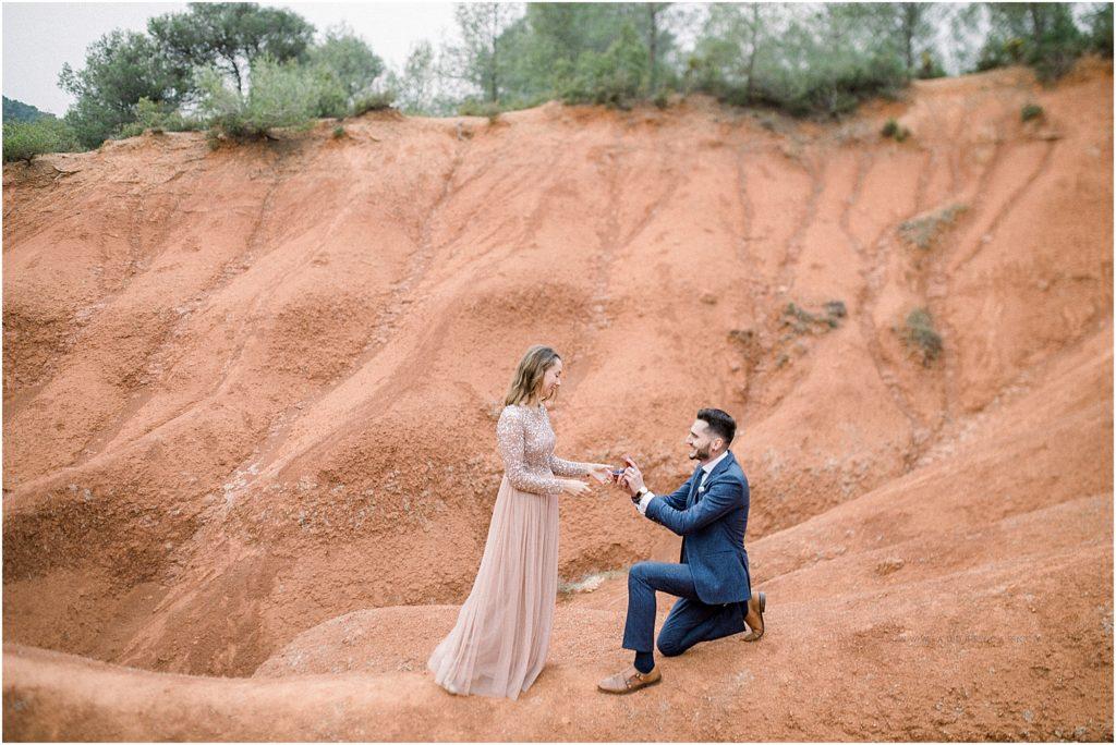 seance photo d'une demande en mariage à Aix en Provence